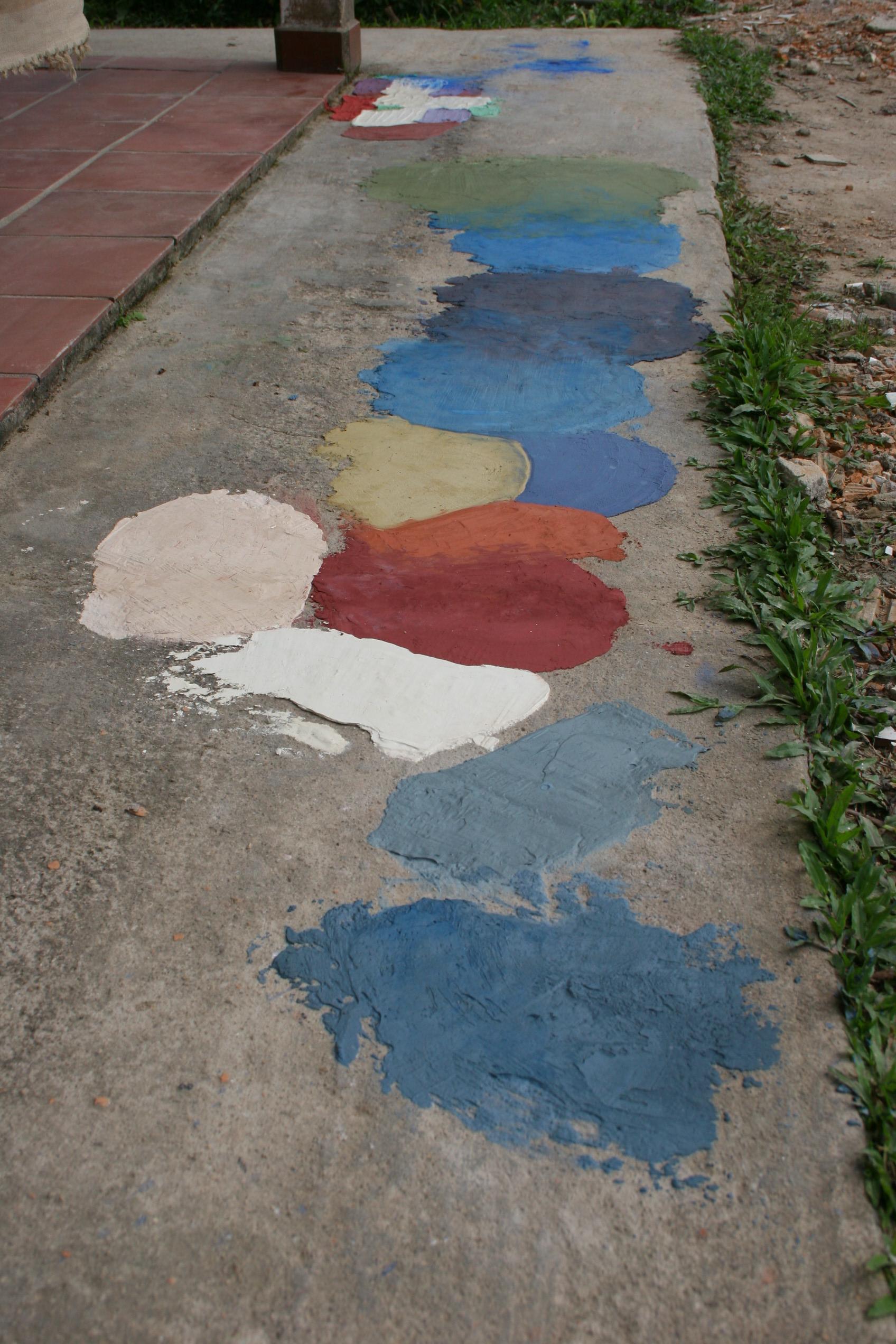Calçada da cor Lagamar EcoHotel Cananéia #43647E 1696x2544 Banheiro Antigo Azul